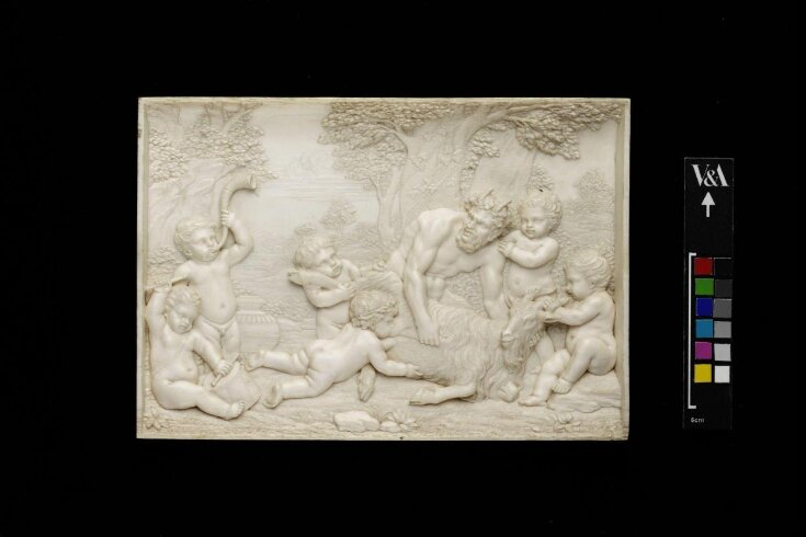 Bacchanalian infants playing with a Satyr top image