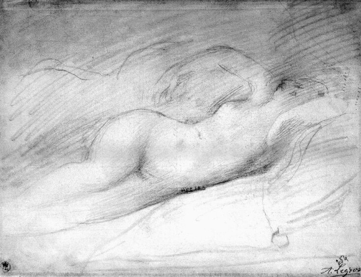 Study of a 'Sleeping Odalisque' after Ingres top image