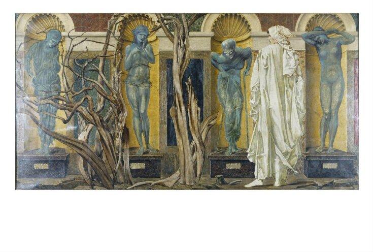 The Pilgrim Outside the Garden of Idleness (Scene from Roman de la Rose) top image