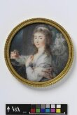 An Unknown woman holding a miniature thumbnail 2