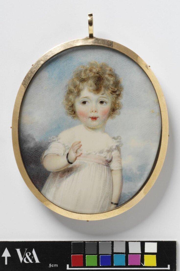 Portrait of Frances Susan Lambton, aged about 2 or 3 top image