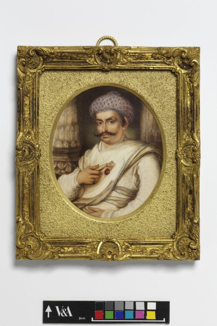 Portrait of Hyder Beg Khan, the Minister to the Nawab of A Wadh, Asaf-Au-Daula top image