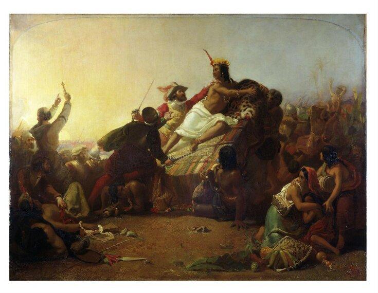 Pizarro Seizing the Inca of Peru top image