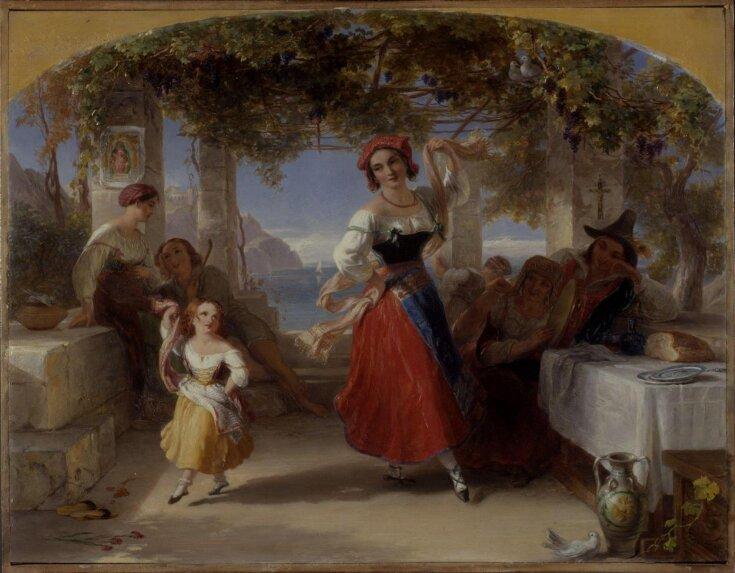 An Italian Mother Teaching her Child the Tarantella top image
