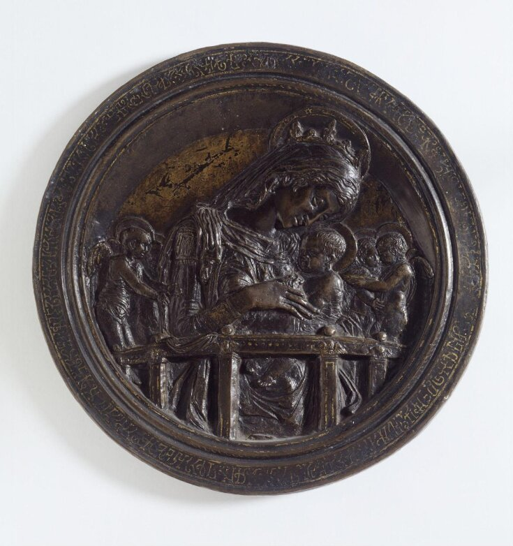 The Virgin and Child with four angels top image