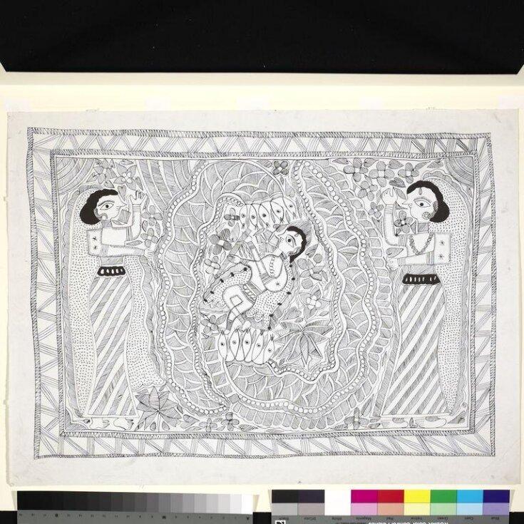 Krishna on Kaliya top image