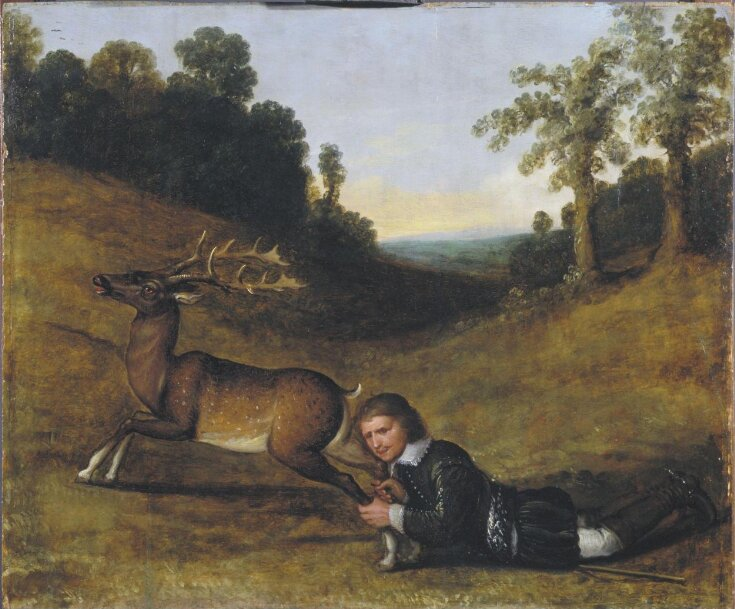 Colonel Smith Grasping the Hind Legs of a Stag top image