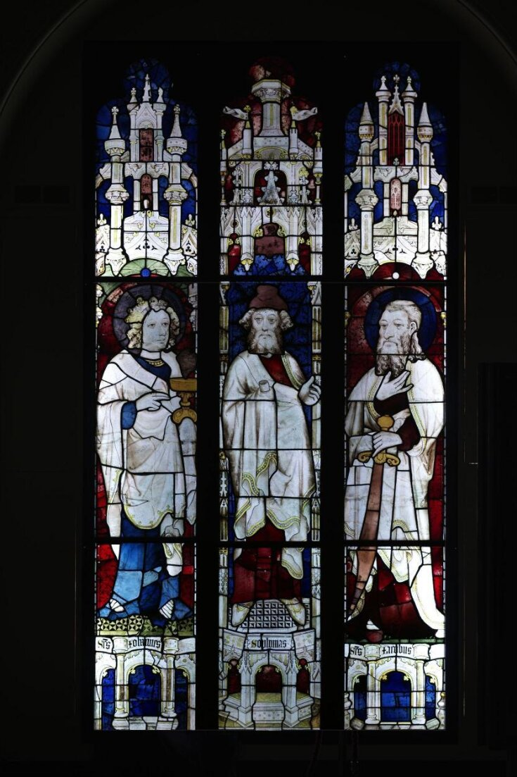 Prophet Ezekiel flanked by Saints John the Evangelist and James the Less top image
