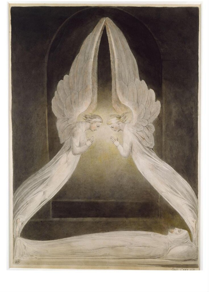 The Angels hovering over the body of Christ in the Sepulchre top image