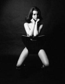 Christine Keeler beside chair, 1963 thumbnail 1