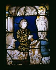 A Kneeling donor before a statue of Saint Mary Magdalene thumbnail 1