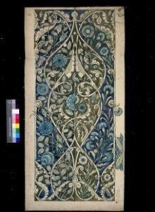 Design, probably for a tile panel. Persian foliage pattern. thumbnail 1