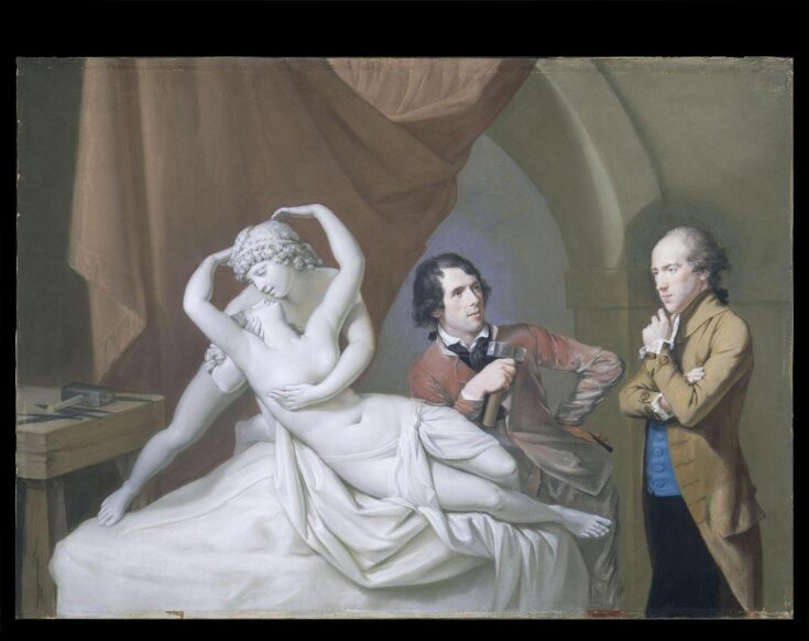 Antonio Canova in his studio with Henry Tresham and a plaster model for Cupid and Psyche top image