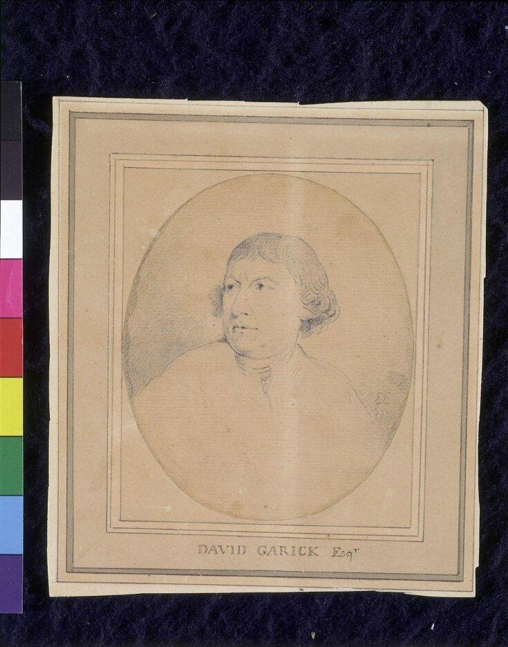 David Garrick, Actor (1716-1779).  Head. top image