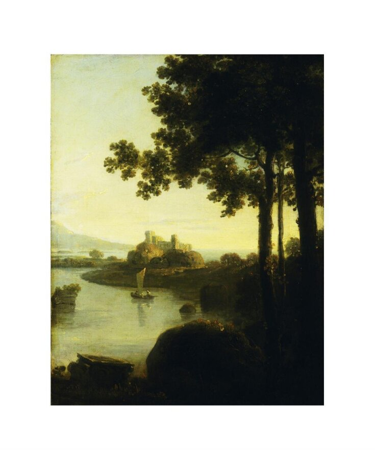 River scene with castle top image