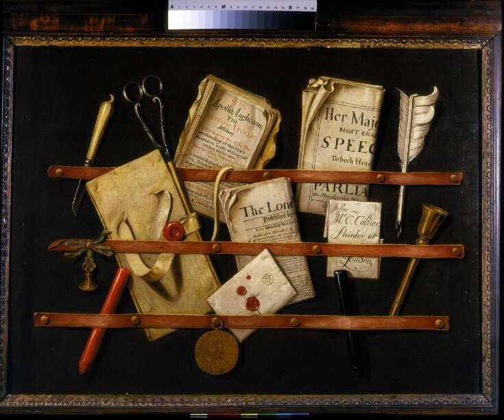 Trompe l'oeil with Writing Materials top image