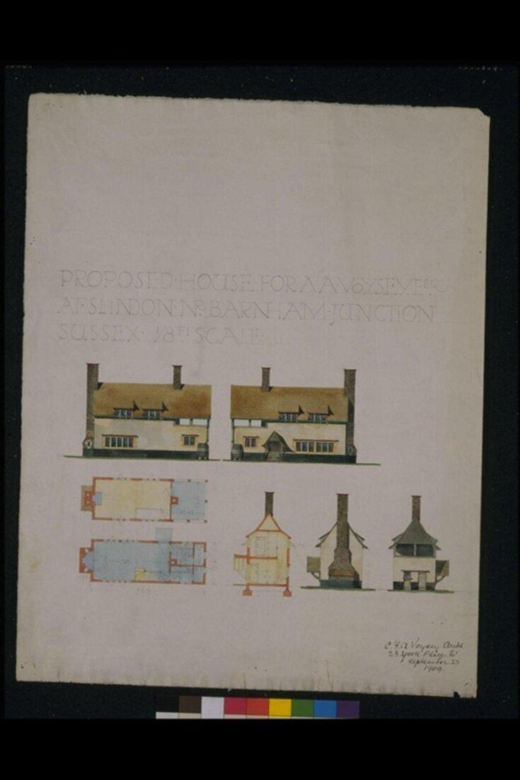 Proposed house for A. A. Voysey at Slindon Barnham Junction, near Barnham Junction, Sussex top image