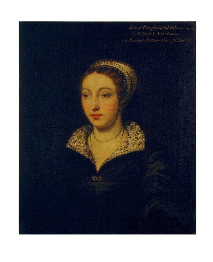 Joan Champernoune [Champernon], daughter of Sir Philip Champernoune [Champernon] of Modbury, Devon, and wife of Sir Anthony Denny (d.1549)   top image