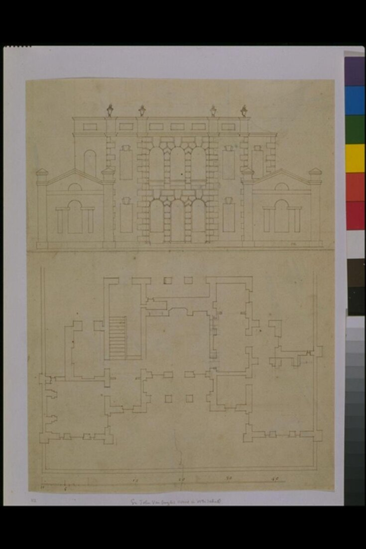 Plan and elevation of 'Goose-Pie House', Whitehall top image