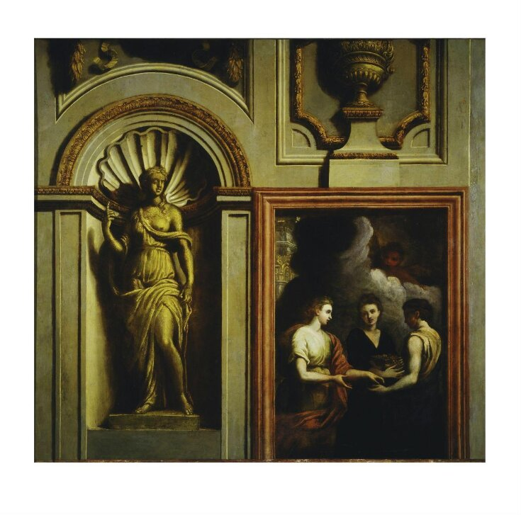 Architectural elements with Psyche Giving Gifts to Her Sisters top image