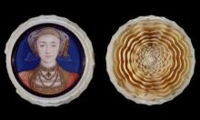 Portrait miniature of Anne of Cleves (1515-1557), set in a turned ivory box thumbnail 1