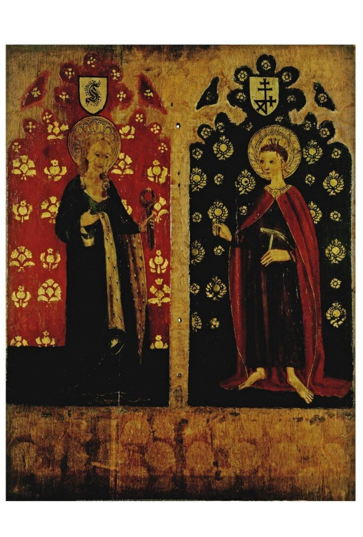 St Agatha Holding Pincers and a Breast; St William of Norwich with Three Nails in His Head (panel from a rood screen) top image