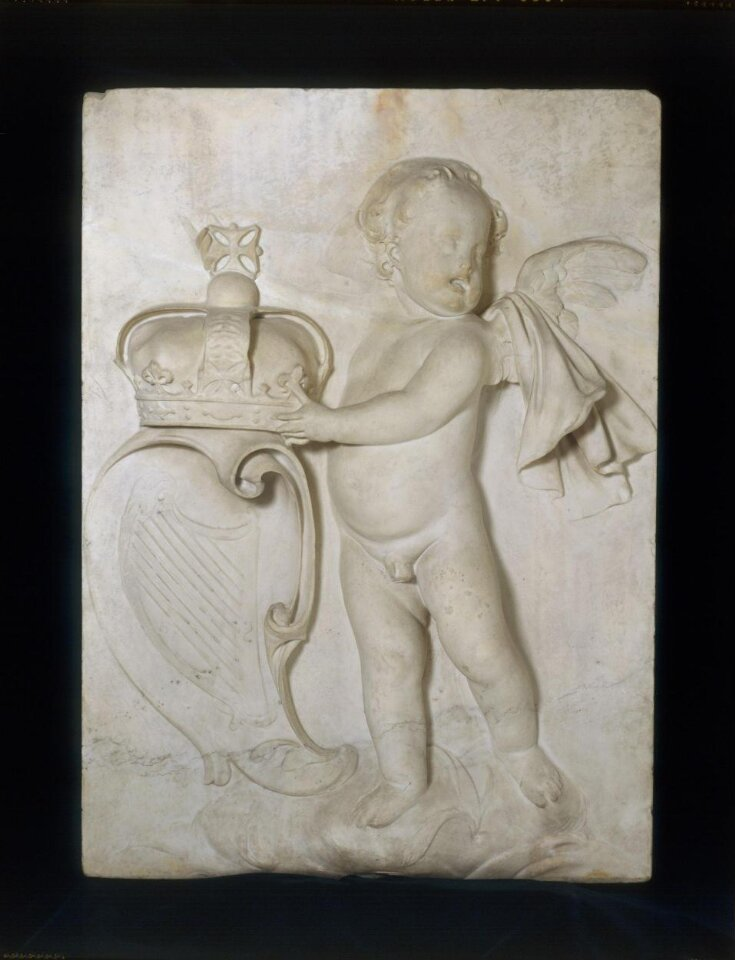 A Putto holding the Crown and coat of arms of Ireland top image