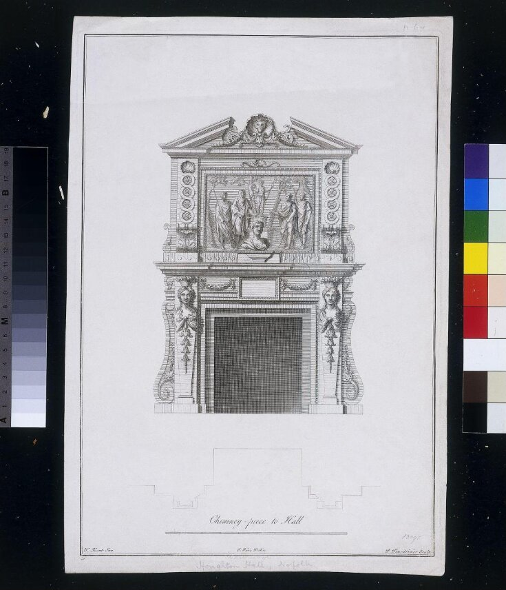 The Plans, Elevations, And Sections; Chimney-Pieces, and Cielings [sic] of Houghton in Norfolk. The Seat of the Rt. Honourable Sr. Robert Walpole ... top image