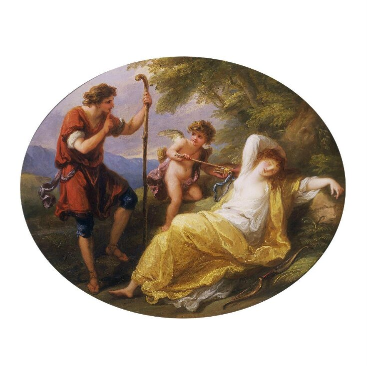 A Sleeping Nymph Watched by a Shepherd top image