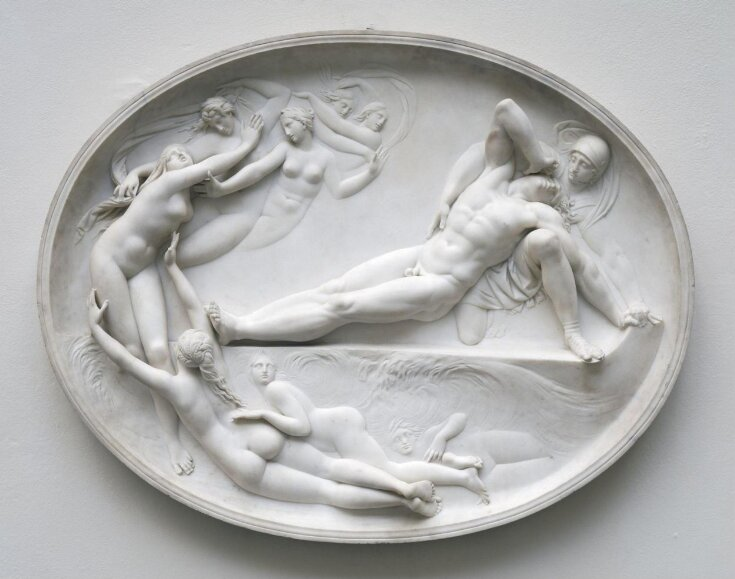 Thetis and her nymphs rising from the sea to console Achilles for the loss of Patroclus top image