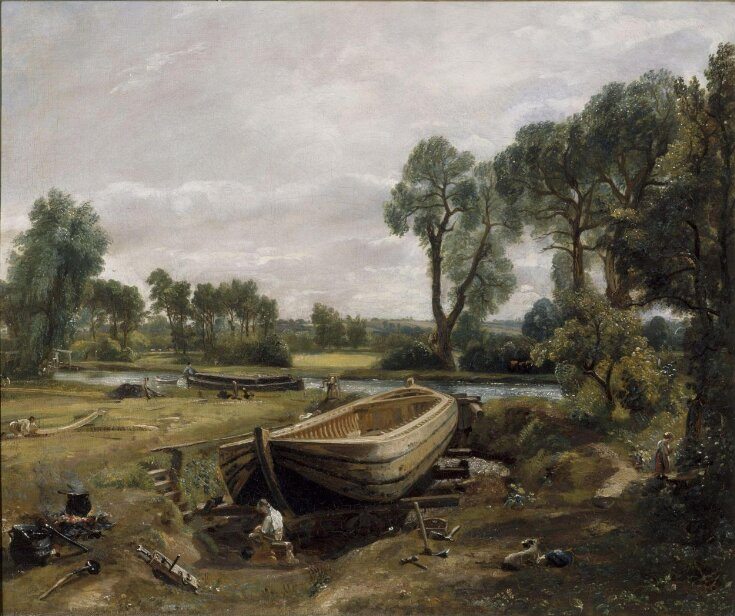 Boat-Building near Flatford Mill top image
