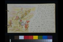 Illustrated letter to Nancy Nicholson thumbnail 1