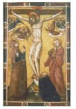 The Crucifixion with the Virgin and Saint John; St Anthony Abbot at the foot of the Cross thumbnail 2