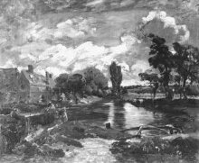 Flatford Mill from a Lock on the Stour thumbnail 1