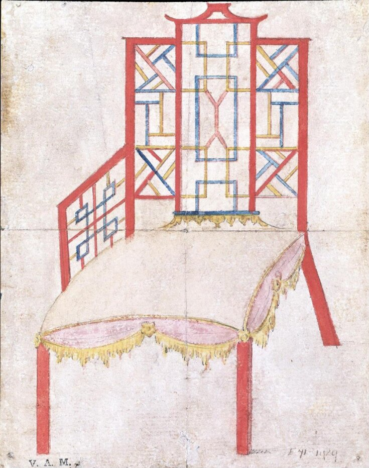 Design for an armchair for the 4th Duke of Beaufort top image