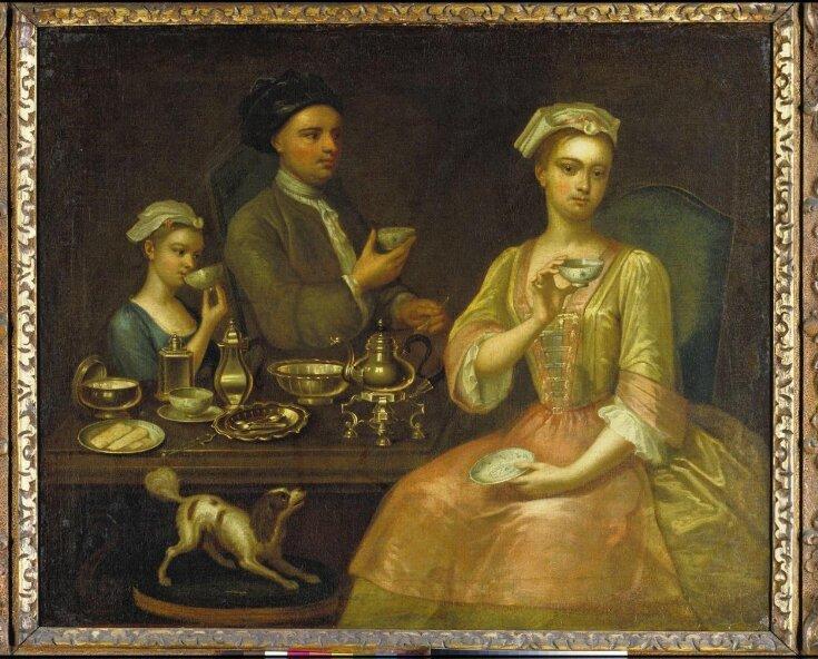 A Family of Three at Tea top image