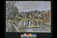 View of Bradford-on-Avon, with the bridge in the foreground thumbnail 1