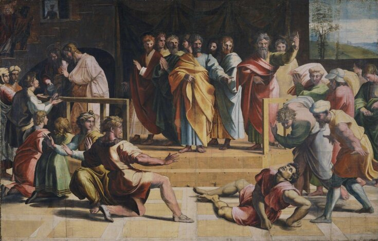 The Death of Ananias (Acts 5: 1-5) top image
