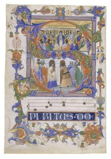 Leaf from a Gradual for the Camaldolese monastery of San Michele a Murano thumbnail 1