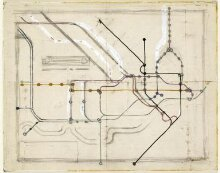 Original sketch for the London Underground Railways Map thumbnail 1