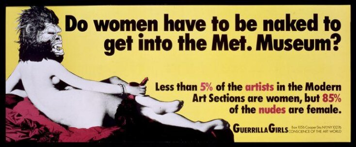 Do women have to be naked to get into the Met. Museum? top image
