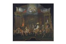 Parade of the Sons of Shah Jahan on Composite Horses and Elephants thumbnail 1