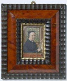 Self-portrait of Simon Bening, aged 75 in 1558 thumbnail 1