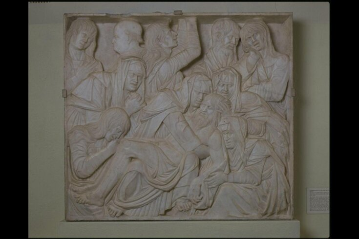 Lamentation over the dead Christ top image