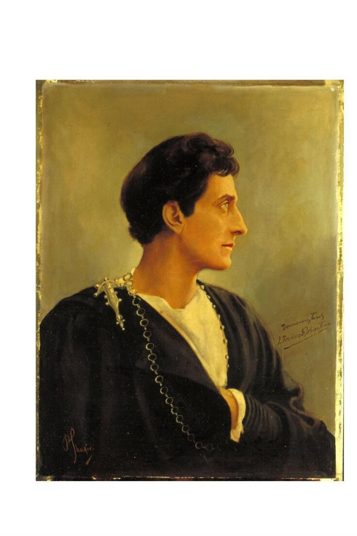 Sir Johnston Forbes-Robertson as Hamlet in Hamlet by William Shakespeare top image