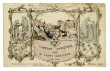 "Christmas card : to Henry Cole / sent by John Callcott Horsley, ""Xmasse 1843"" thumbnail 1"