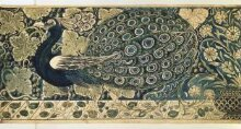 Design for a tile panel with peacock thumbnail 1