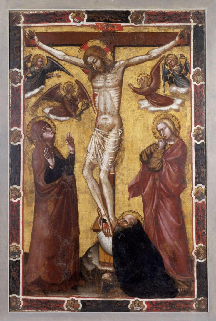 The Crucifixion with the Virgin and Saint John; St Anthony Abbot at the foot of the Cross top image