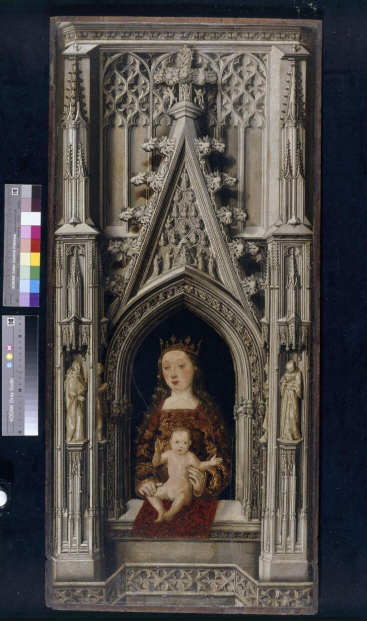 The Virgin and Child in a Gothic architectural setting top image