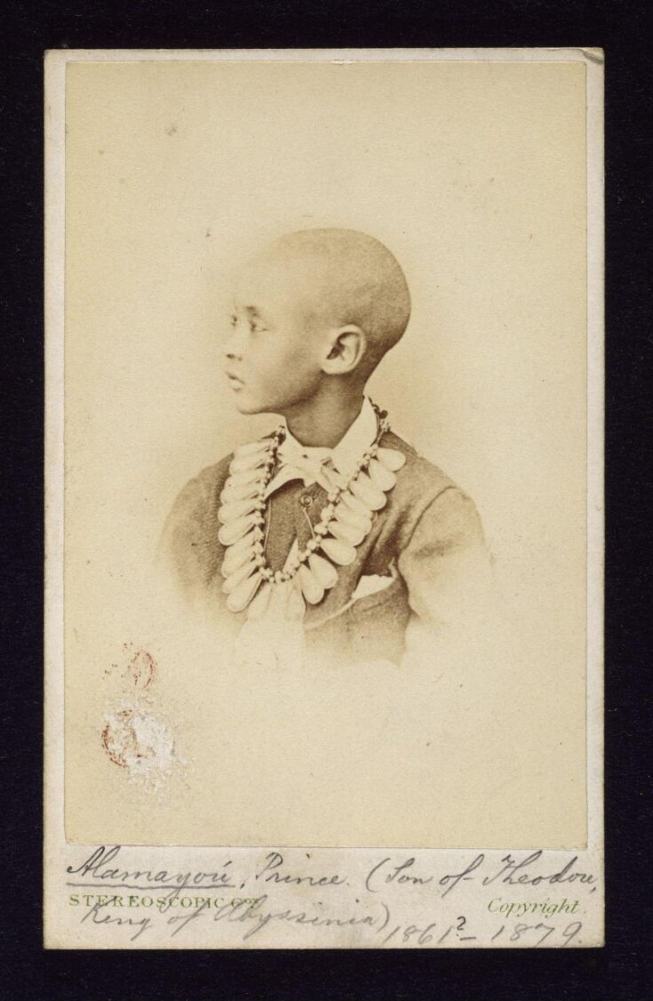 Alamayou, Prince (Son of Theodore. King of Abyssinia) top image